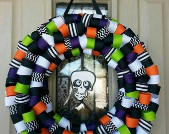Skeleton wreath, skeleton halloween wreath, skeleton decor, halloween decor, halloween  wreath, fall wreath, holiday decor, holiday wreath