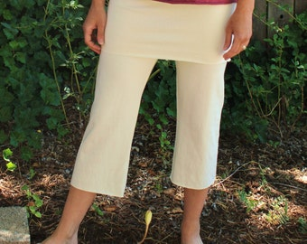 Skirted Capri Pants - Hemp, Organic Cotton, Hand Dyed