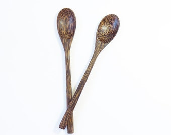 set of 2. wooden spoon serving spoon long handle spoon : M056-PS