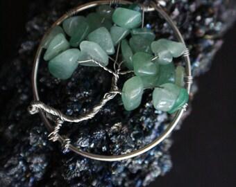 Green Aventurine Tree of Life Pendant