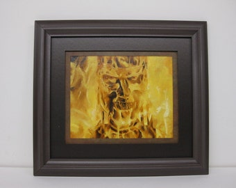 Terminator 2 Judgement Day T-800 Original Oil Painting