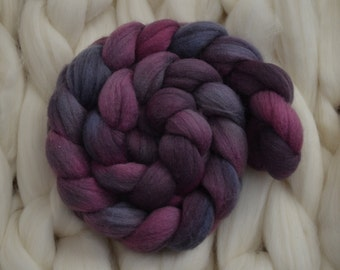 Varied Bunting - BFL roving, hand dyed, 100gr