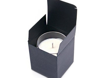 20 x Black paper box / Candle box / 3 ~ 9  oz candle box / paper box / glass cup box / jar box / candle packaging / DIY candle / Hand