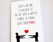 Funny greeting card, Valentine's Day, Anniversary, Birthday, Zombie, Dead