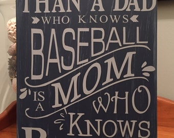 Baseball Wood Sign Baseball Mom Baseball Dad Sports Home Decor Sports Decor