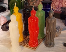 Male Human Figure Candle Beeswax Blend, god figure candle, candle spells, candle magick, male figure candles