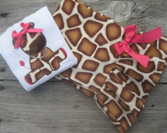 Girls Giraffe Ruffle Pant Set,Girl Top and Ruffle Shorts,Girls Ruffle Shorts,Girls Embroidery Top,Ruffle Shorts,Ruffle Pants,Girl hair Bow