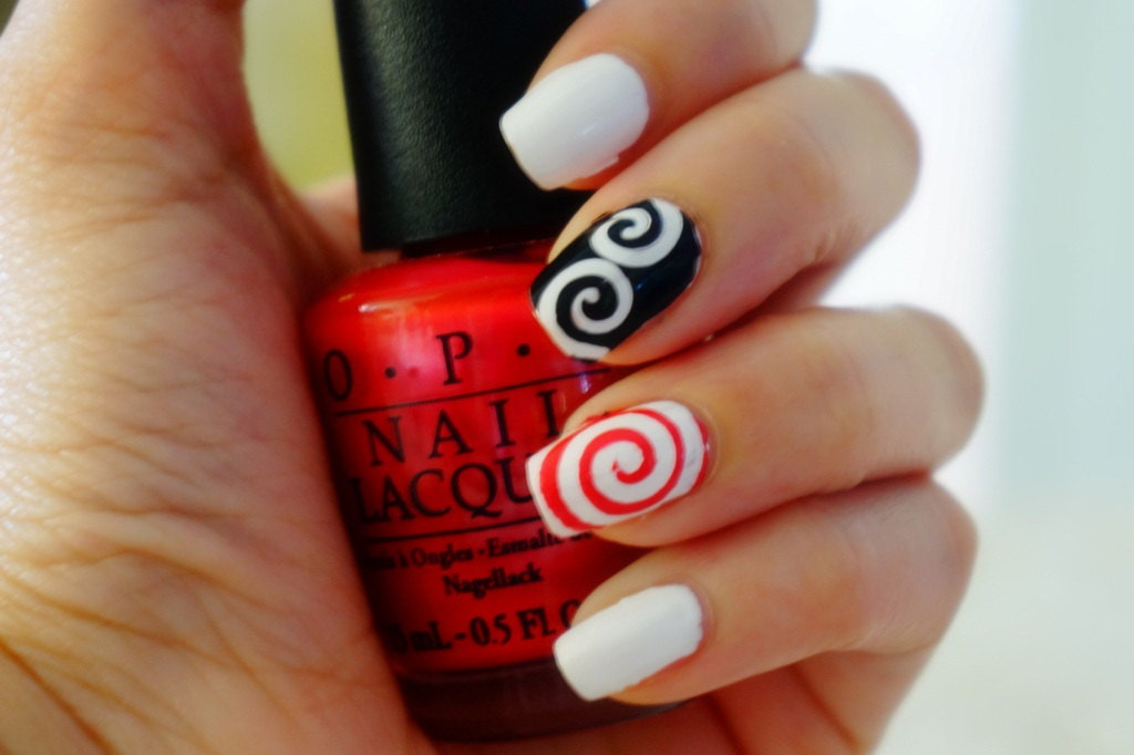 swirly vinyl nail stencils decals by primpandco on etsy. Black Bedroom Furniture Sets. Home Design Ideas