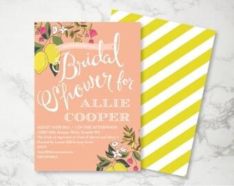 Summer Lemon Bridal Shower, Pink and Yellow