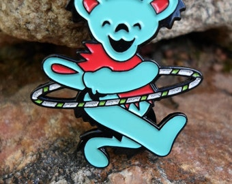 Teal Hula Hooping Grateful Dead Dancing Bear