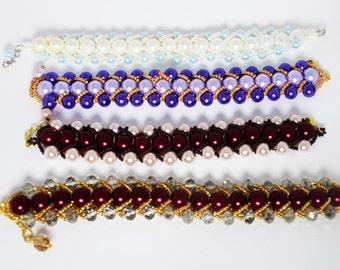 beaded festive bracelet