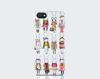 Rabbit iPhone Case, Rabbit lover gift, Fifi Lapin, iPhone 6, 6s, 6 Plus, 6s Plus, 5s, 5c 4s Samsung Galaxy S6 S5 S4 S3