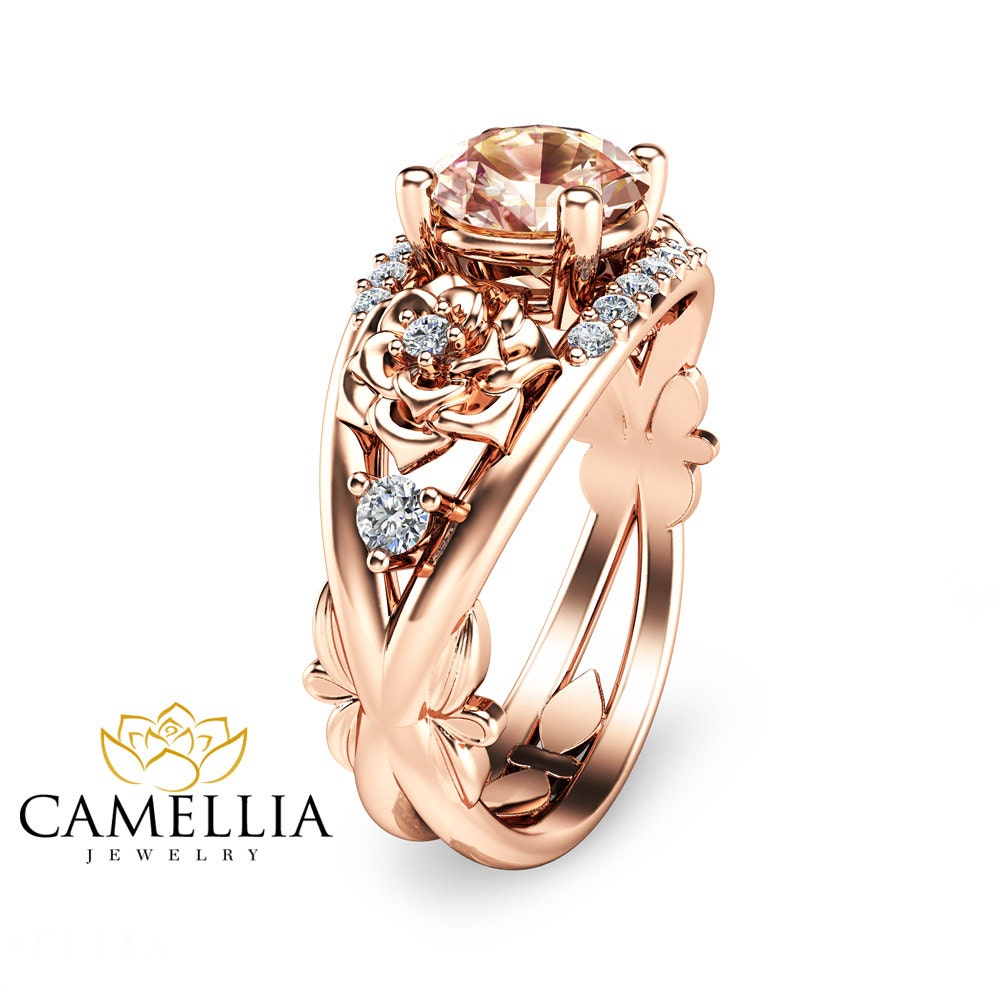 14k gold engagement ring gold by camelliajewelry