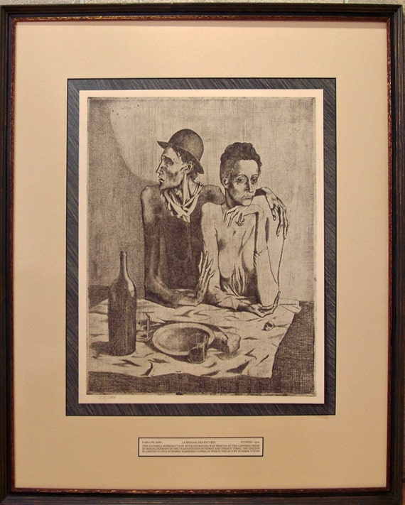 Pablo Picasso lithograph vintage high quality made in germany 1923