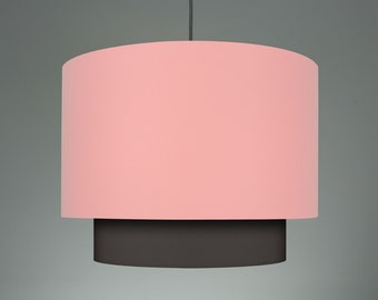 Double lampshade 'Old Pink/Charcoal 40'