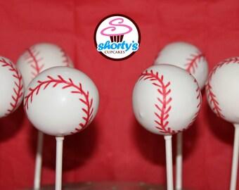 Baseball Themed Gourmet Cake Pops