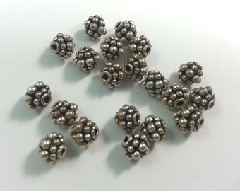 7mm, 20 Pcs Sterling Spacer Beads