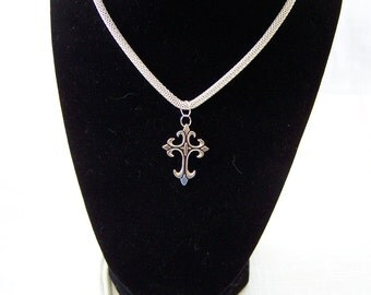 "20"" Silver Chain with Cross"