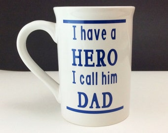 Customizeable Coffee Mug - Perfect for Fathers Day - Includes Quote and Name