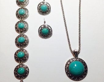 Turquoise Jewelry Set