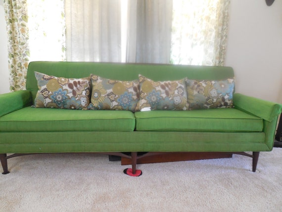 Kroehler mid century modern sofa couch 5039s by nifty50svintage for Kroehler furniture slipcovers