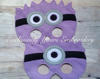 Purple Monster Children's Mask Set of 2  - Costume - Theater - Dress Up - Halloween - Face Mask - Pretend Play - Party Favor
