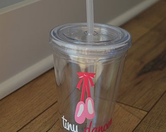 Personalized Tiny Dancer Acrylic Tumbler- Ballet- Dance- cup with straw