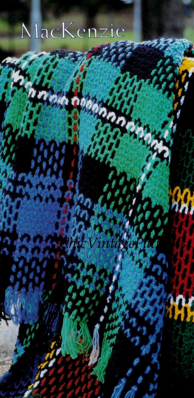 Free Crochet Patterns Tartan Rugs : Tartan Rug Pattern ... Crochet Afghan ... by ...