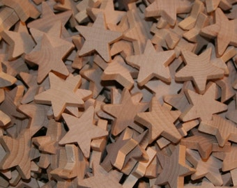 Unfinished Wood Stars 1""
