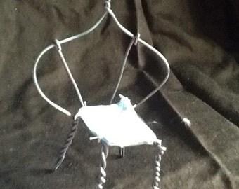 Miniature, chair 1. Wire. Miniature. Dollhouse  furniture