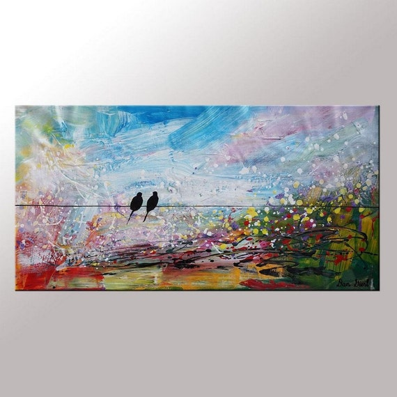 Painting As Wedding Gift : Art, Wedding Gift, Abstract Art, Canvas Oil Painting, Large Painting ...