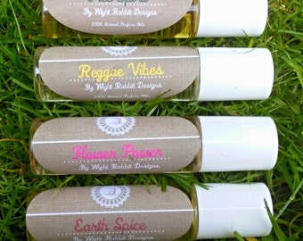 Hippy Hand Blended Roll On Perfume Oils, Pick your Blend, Fully Vegan, Witch, Pagan