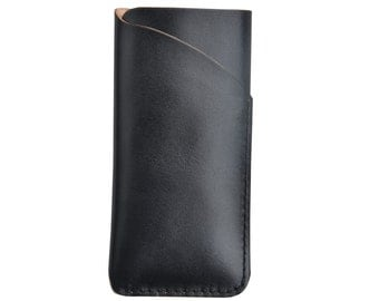 Handmade genuine leather sleeve cover case with card holder for Blackberry Z10  Q10 Z30 leap  One plus one two yotaphone 2