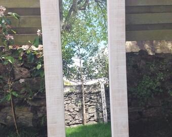 Large Handmade Wood Mirror - Local Cornish Timber