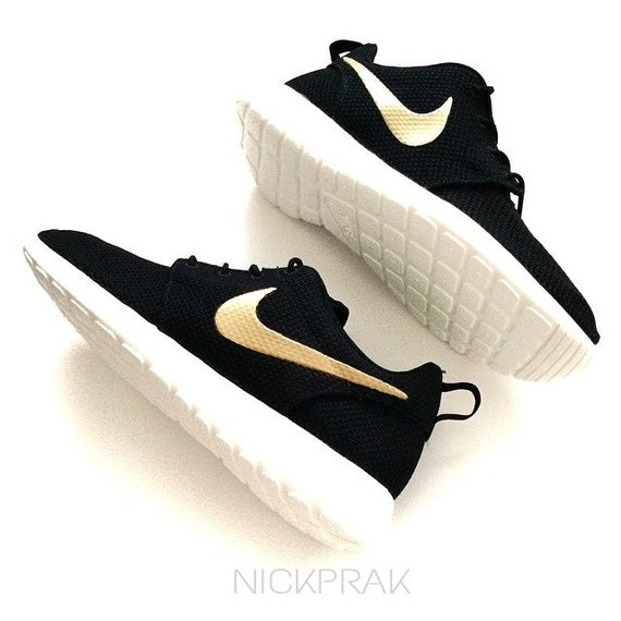 Items similar to MADE TO ORDER Metallic Gold Swoosh Custom ...