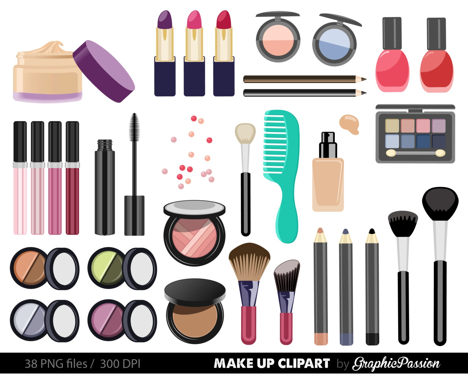 Clip Art Make Up Clip Art makeup clip art etsy make up collection digital clipart beauty cosmetic nail polish girly instant download