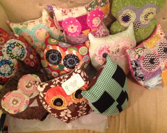 A pillow in the shape of an owl! Customized to your tastes.