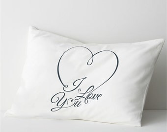 I love you couple pillowcase Romantic gift I Love You pillow Valentine\u0027s Day & Long distance relationship Gift Pillow case Boyfriend Love pillowsntoast.com