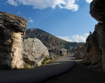 Rocky Road, Yellowstone, Wyoming, Mountains, Road, Winding Road, Fall, Rocks, Mountain