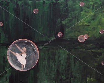 Art - Reproduction painting canvas wall art home decor dancer dance bubble artwork decoration