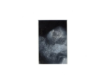 Small Oilpaint Artwork | Astract Monotype | Original | Black & White