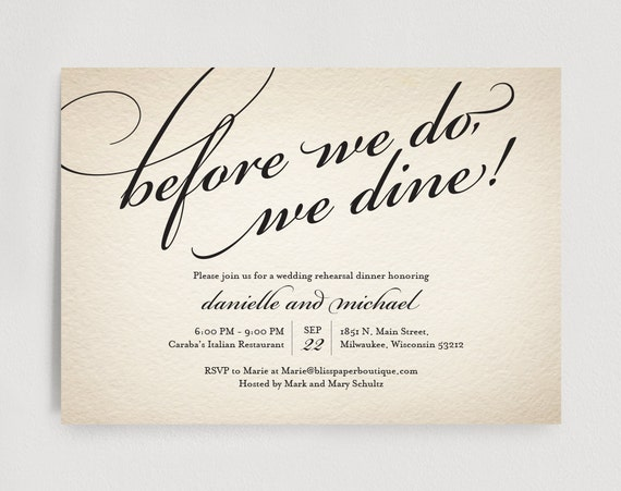 Wedding Welcome Dinner Invitation Wording: Wedding Rehearsal Dinner Invitation Editable Template Before