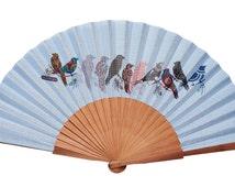 Sparrows Hand Fan