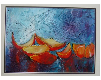 Home & Home Decor Wall decor original painting medium  art painting paint abstract l painting acrylic wall decoration