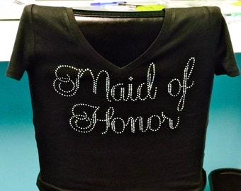 Maid of Honor Rhinestone Shirt