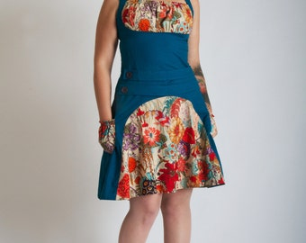 Dress BONNIE Blue floral