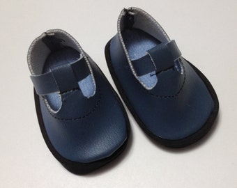 American girl doll clothes 18 inch doll shoes Blue faux leather doll shoes shoes for dolls AG doll shoes