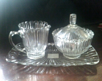 Mikasa Royal Suite Creamer Sugar and Tray