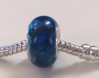 Blue Royal Acrylic Beads- for European Charm Bracelets