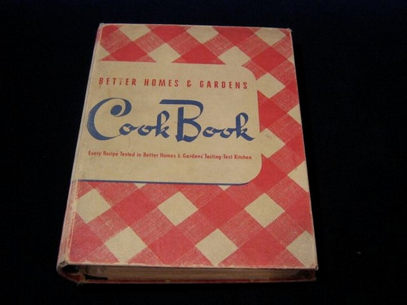 Better Homes And Gardens Cook Book 1940 39 S Vintage Cookbook